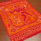 RED BATIK WALL HANGING BEDSPREAD COVERLET TAPESTRY THROW India Ethnic