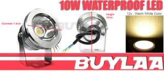 10W Waterproof Warm White LED Flood Spot Light Lamp Bulb DC 12V