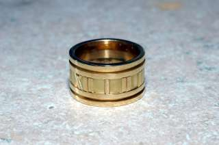 Tiffany & Co. Atlas Roman 18k Yellow gold ring wedding band