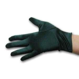 Mardi Gras Short 9 Forest Green Satin Gloves Everything