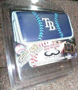Tampa Bay Rays Baseball Leather Cell Phone Clip Case