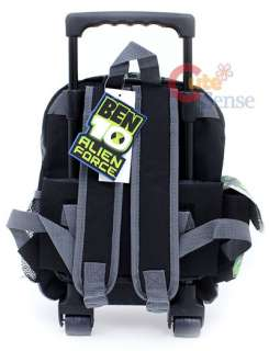 Ben 10 School Roller Backpack Rolling Bag 12 Gray