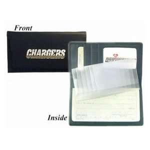 San Diego Chargers Black Leather Checkbook Cover *SALE