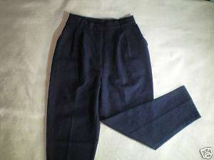 NEW womens navy blue BENTLEY dress pants size 10 12 S