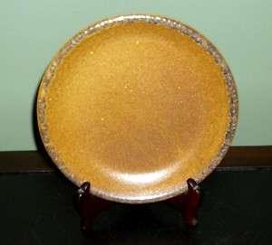 MCCOY Art Modern Stoneware Pottery ~ Brown Mesa CANYON ~ Salad Plate