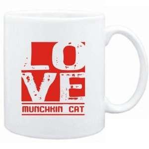 Mug White  LOVE Munchkin  Cats