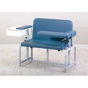 Bariatric blood drawing chair with upholstered seat/drawer