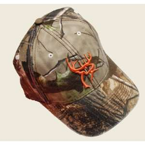 Buck Commander ~ Camo with Blaze Orange Deer Logo Embroidered ~ Deer