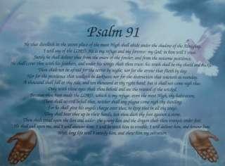 PSALM 91 CHRISTIAN BIBLE VERSE GIFT GODS HANDS