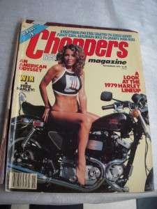 MAGAZINES QTY 4 1977 81 CHOPPERS & BIG BIKES REAL BIKER LIFESTYLE