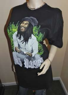 NEW BOB MARLEY Rasta Reggae Rock Black TEE SHIRT~ Big & tall Size 2XL