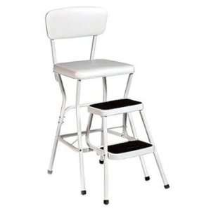 Adepta Medical 11118WHT Chair Step Stool with Slide Out Steps   White