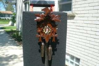 Black Forest 8 Day German Cuckoo Clock Serviced Runs Good