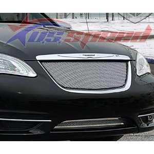 2011 UP Chrysler 200 Chrome Wire Mesh Grille 2PC   E&G