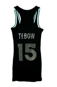 Womens New York NY Jets Tim Tebow Bling Jersey Tank Top Tee T Shirt