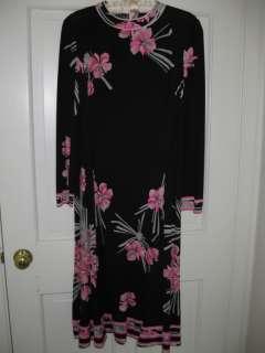 Vintage 1970s LEONARD PARIS Silk Jersey DRESS   Sexy Gorgeous