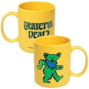 Grateful Dead Green Dancing Bear Coffee Mug: Kitchen & Dining