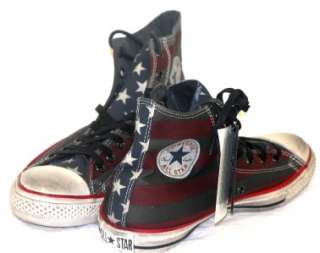 Converse JOHN VARVATOS CT Spec RWB/Black Stars & Stripes Hi Top 11.5