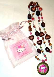 Hello Kitty Pink Head Long Necklace by Tarina Tarantino