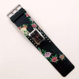 Ed Hardy Womens Temptress Black Rose Watch w/Gift Box, TT BSK