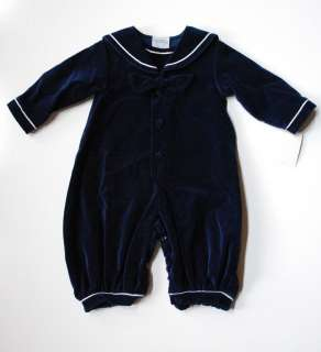 Winter BLUE Baby Boy Nautical Boutique Longall Romper 3 M Holiday