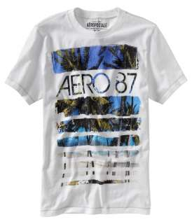 Aeropostale mens graphic SURF CREW t shirt