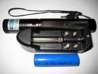 Military High Power Blue Laser Pointer Tactical Pen+Battery+Charger