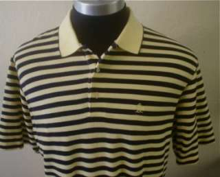 Striped 80s Retro Grand Slam Penguin Golf Emo Polo Shirt XL