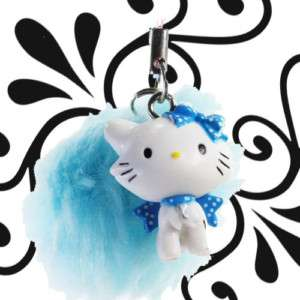 Sanrio Hello Kitty Charmmy Cat Blue Plush Phone Strap