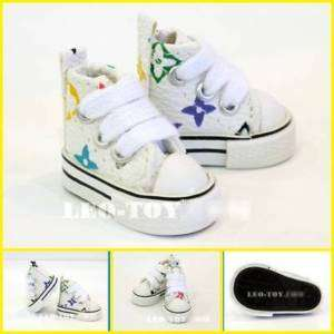 Blythe Lati Jenny Doll Shoes MICRO Sneaker White Multi