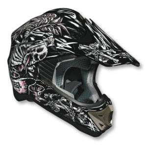 NEW Racing Helmet Pink Skull n Bonz BMX/MX/ATV Youth Md