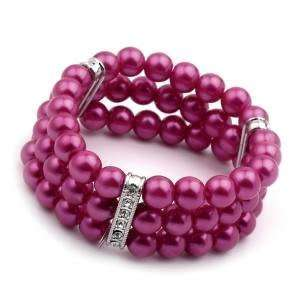 Acosta Jewellery   Pink Faux Pearl & Crystal   Fashion