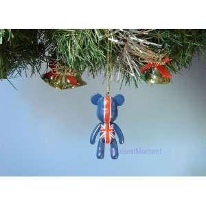BEAR *17 CHRISTMAS ORNAMENT UK BRITISH FLAG UNION JACK