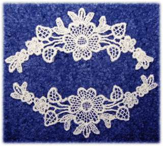 THESE RAYON VENISE APPLIQUES MAKE GREAT BORDERS FOR CRAFT BOOKS, NECK