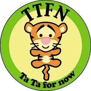 Winnie The Pooh Tigger Ta Ta For Now Button B DIS 0122 Toys & Games