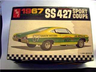 AMT 1967 CHEVROLET IMPALA SS427 BOX ONLY HOT ROD DRAG RACER !