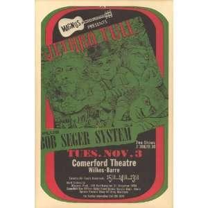 Jethro Tull   Bob Seger System Concert Poster (1970