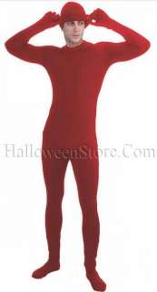 Red Disappearing Man Skin Suit Adult Costume