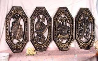 Set of Vintage Homco Medieval Wall Plaque Armor Shield