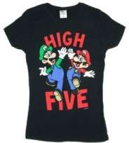 Nintendo Super Mario Bros. High Five Juniors Shirt 96 D62
