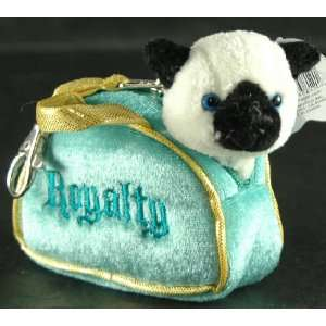 Aurora Mini Fancy Pals Plush Pet Kitty Cat Royalty With Clip On Purse