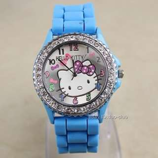 1Pcs Hellokitty Silicone Band Quartz Wrist Watch For Unisex 7 Color