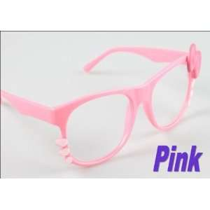 Super Cute Pink Kitty Glasses with Clear Lenses Health