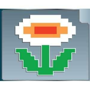 FIRE FLOWER Power Up vinyl decal sticker from Super Mario