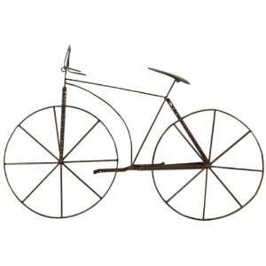HOME DECORATOR 04346 RUSTIC BICYCLE WALL ART SCULPTURE DESIGN RUSTIC