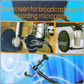 New Studio Microphone Mic Wind Screen Pop Filter Shield