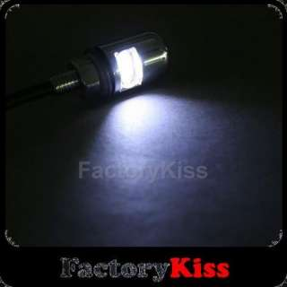 Motorcycle White LED License Plate Light Bolts #100