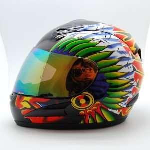 Motorcycle Street Bike Indian Full Face Adult Helmet Automotive