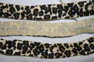 Brown ANIMAL PRINT Leopard foldover elastic FOE Baby Headband
