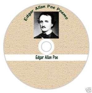 EDGAR ALLAN POE POEMS CD ~  WORLDWIDE